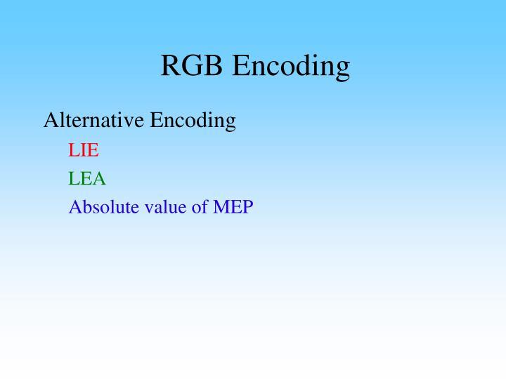 RGB Encoding