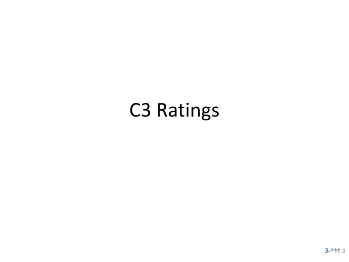 C3 ratings