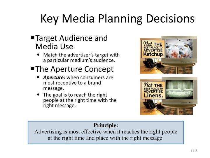 Key Media Planning Decisions
