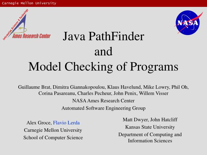java pathfinder and model checking of programs n.
