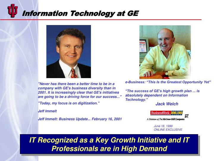Information Technology at GE