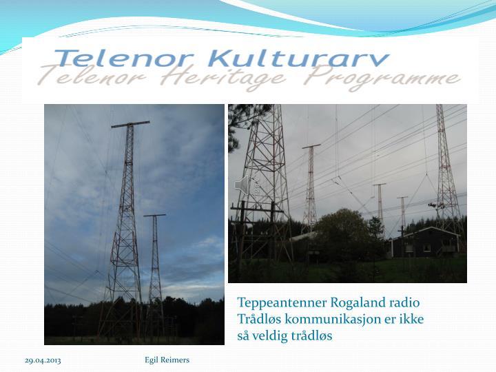 Teppeantenner Rogaland radio