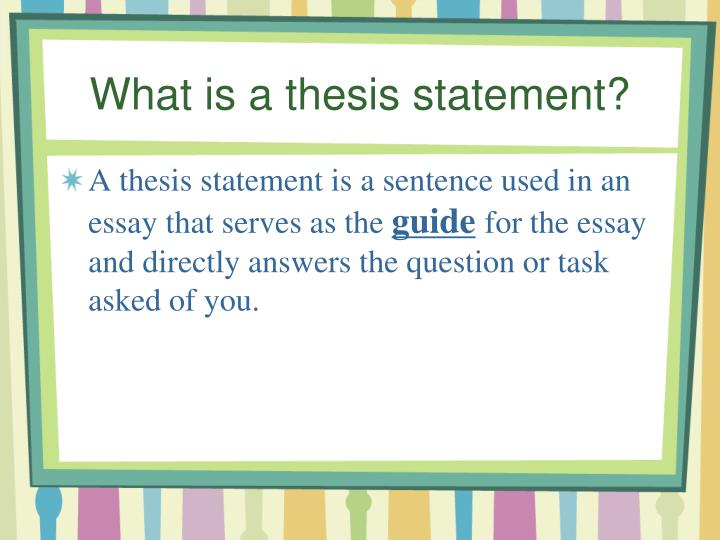 writing a good thesis statement powerpoint • lesson 3: comparing ineffective and effective writing samples unit 2: introductory paragraphs: leads and thesis statements • lesson 1: recognizing a lead and thesis statement (topic sentence) identifying six techniques for an effective lead • lesson 2: writing a lead using six techniques • lesson 3: revising a lead • lesson 4: writing a thesis.