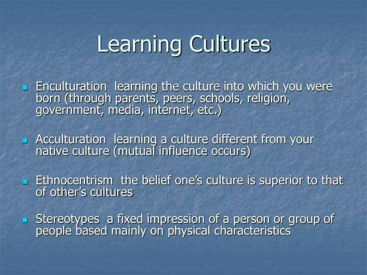 Learning cultures