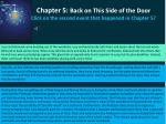 chapter 5 back on this side of the door click on the second event that happened in chapter 5