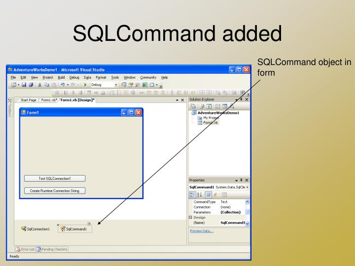 SQLCommand added
