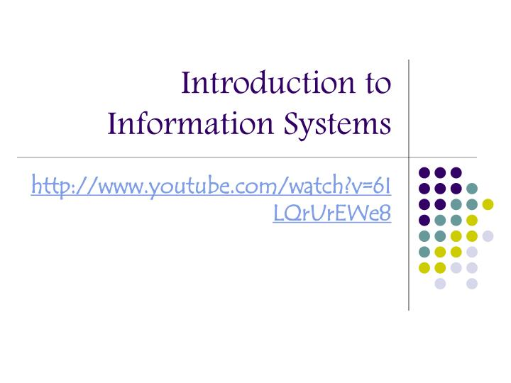 introduction to information systems n.