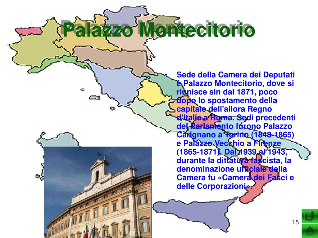 Ppt il governo dello stato italiano powerpoint for Numero deputati parlamento italiano