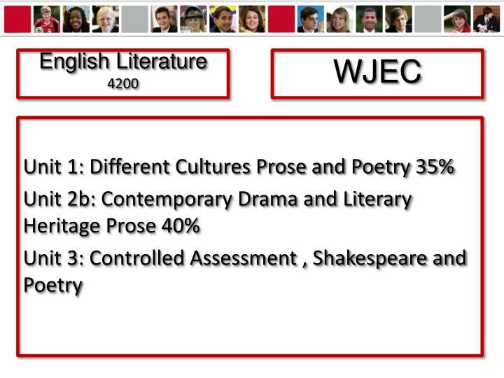 English literature 4200