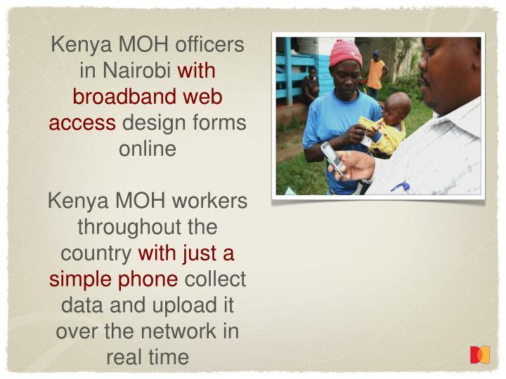 Kenya MOH officers in Nairobi