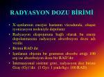 radyasyon dozu b r m