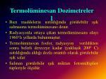 termol minesan dozimetreler 1