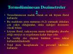 termol minesan dozimetreler 2