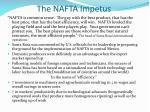the nafta impetus