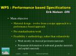 wp 5 performance based specifications erik nielsen dri