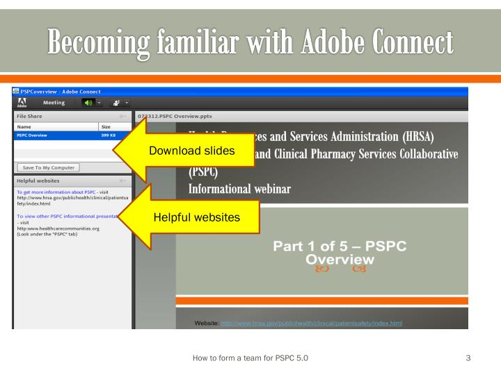 Becoming familiar with adobe connect