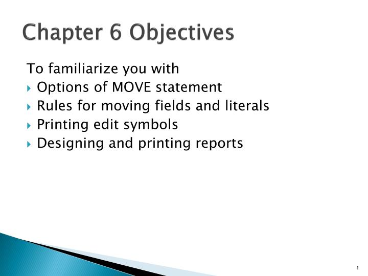 chapter 6 objectives n.