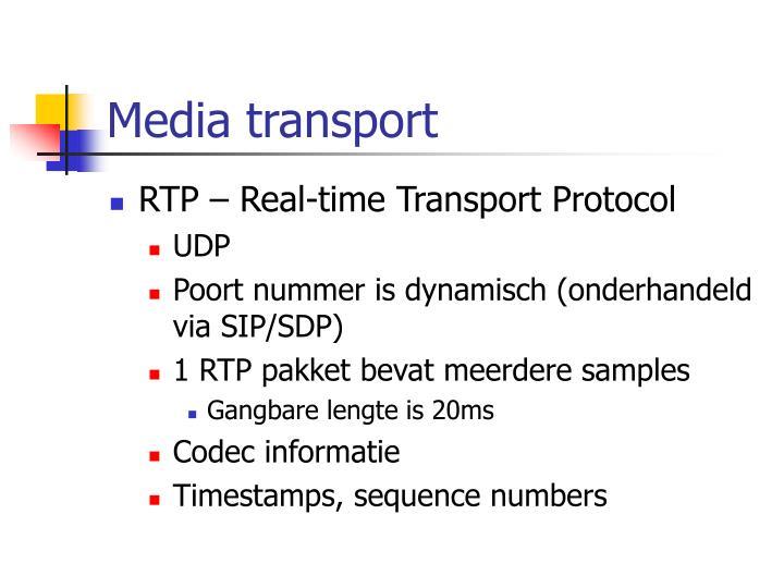 Media transport
