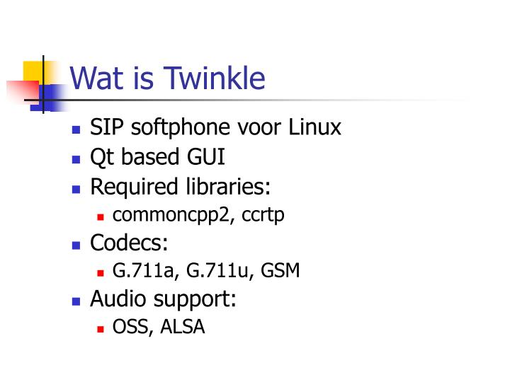 Wat is Twinkle