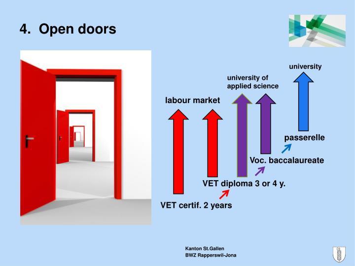 4.  Open