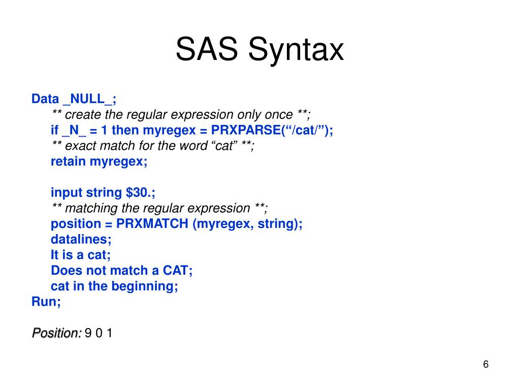 PPT - Perl Regular Expressions in SAS 9 PowerPoint