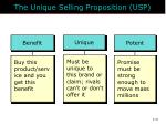 the unique selling proposition usp