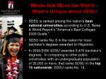 minds that move the world what s unique about sdsu