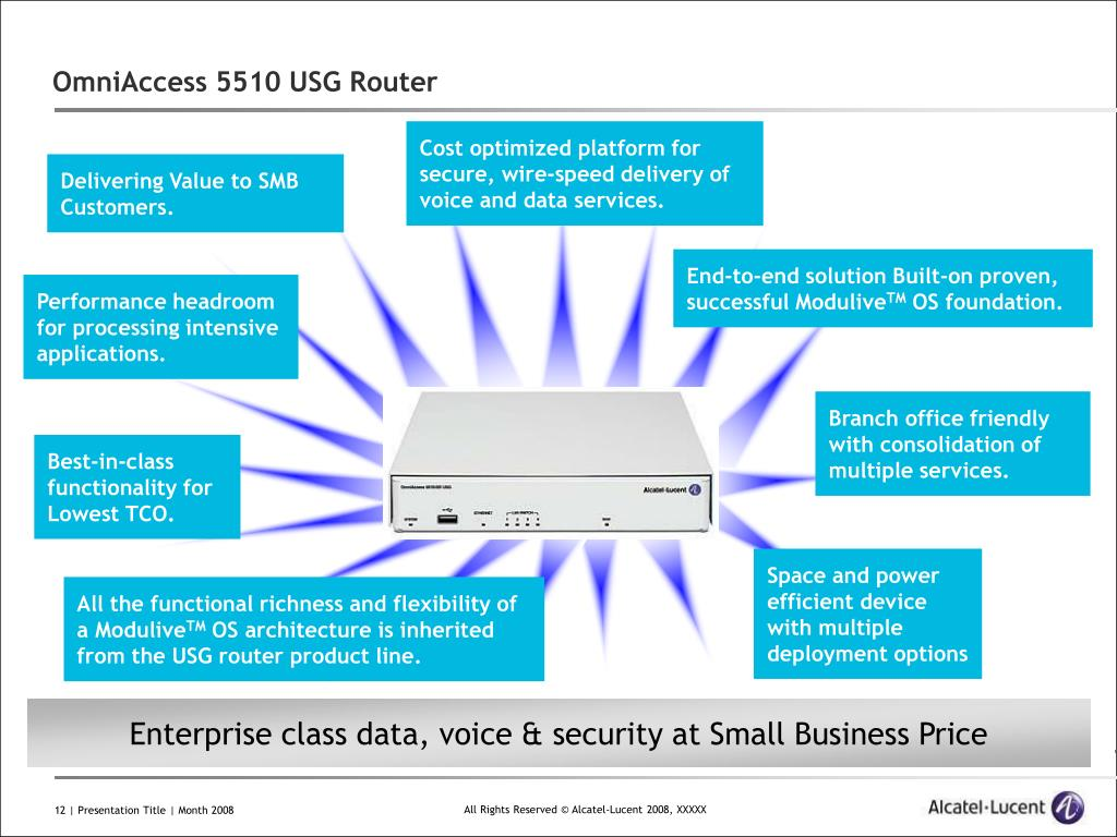 PPT - OmniAccess 5510 USG Router PowerPoint Presentation