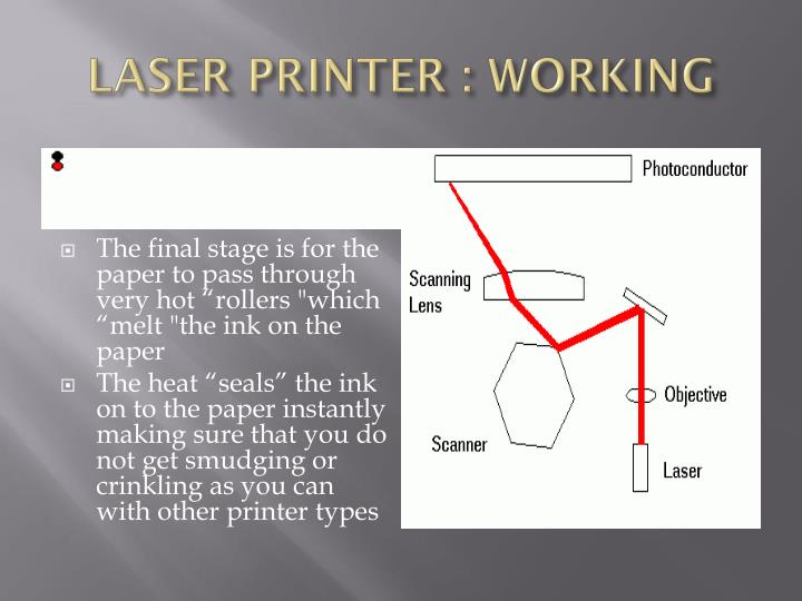 LASER PRINTER : WORKING