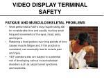 video display terminal safety6