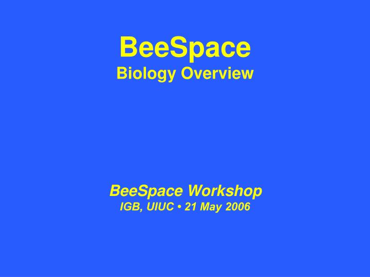 an analysis of the bees life in biology Even bees that never leave the according to new research published in the journal of experimental biology later in life they become field or forager bees.