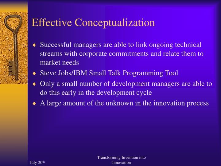 Effective Conceptualization