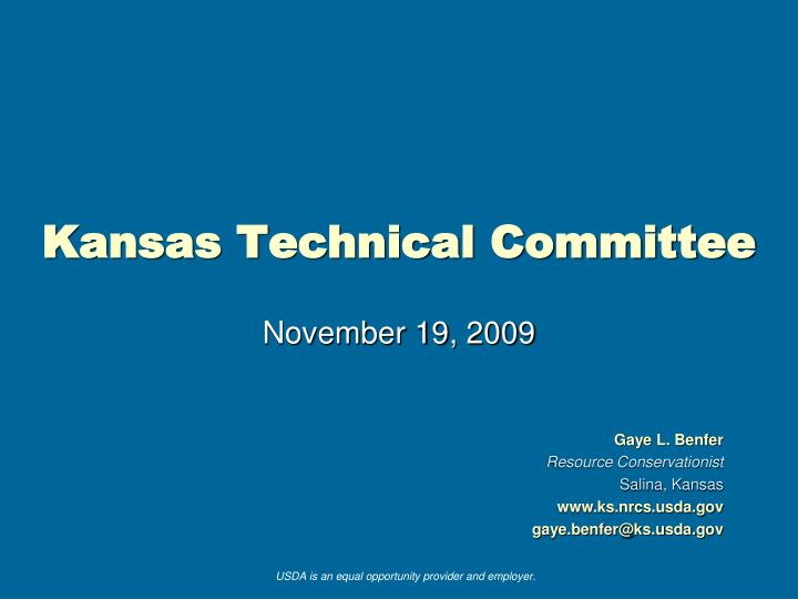 kansas technical committee