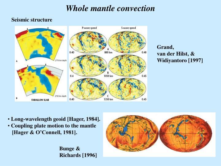 Whole mantle convection
