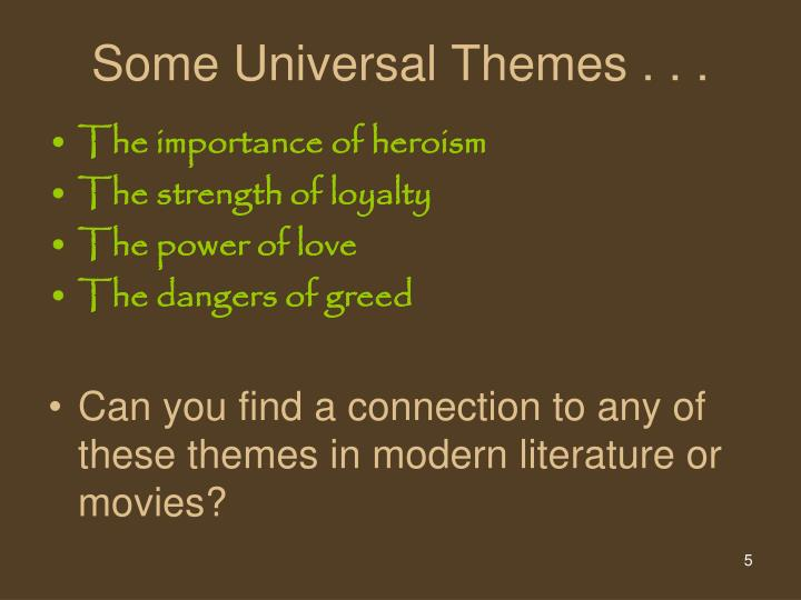 what are some universal themes