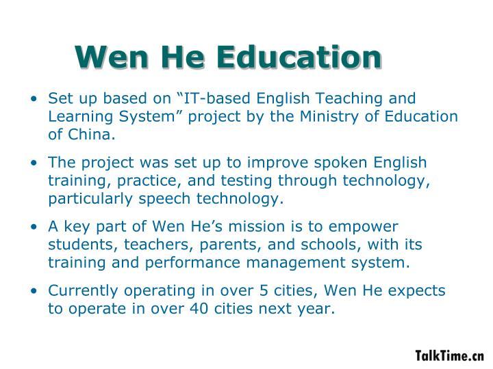Wen He Education