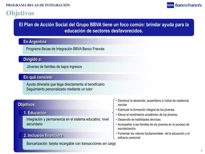 PROGRAMA BECAS DE INTEGRACIÓN