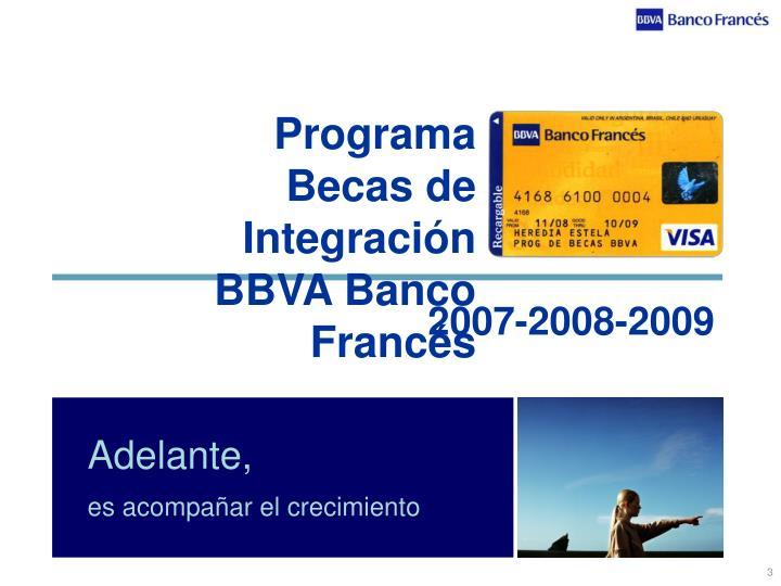 Programa becas de integraci n bbva banco franc s