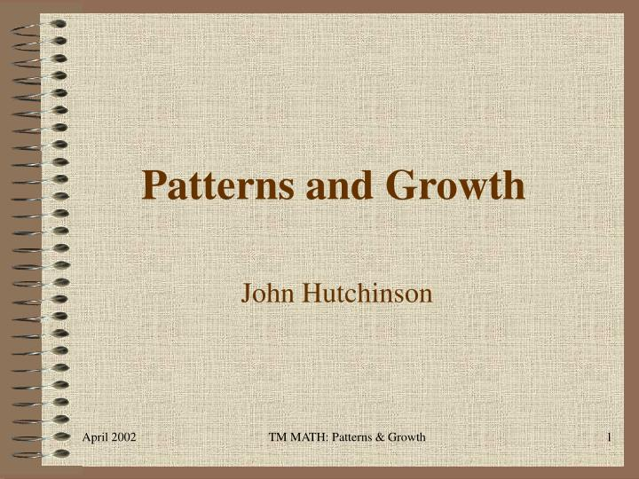 patterns and growth n.