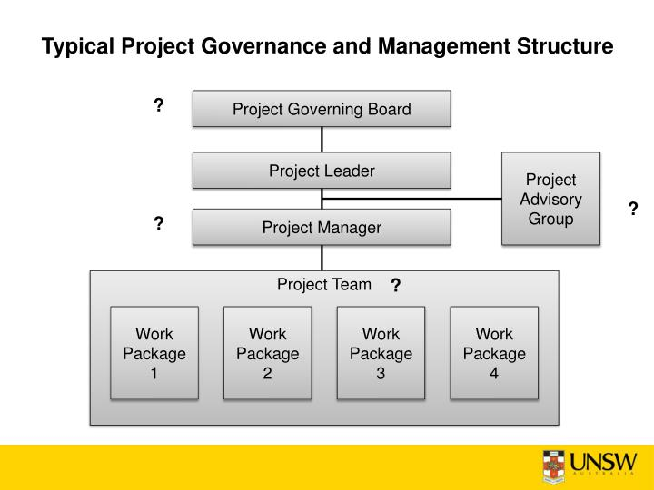 Typical Project Governance and Management Structure