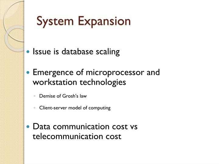 System Expansion