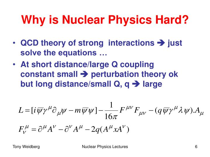 Why is Nuclear Physics Hard?