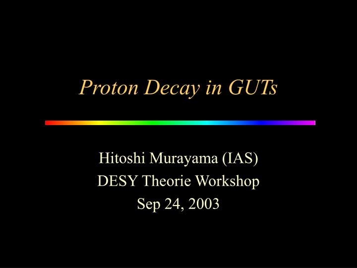 proton decay in guts n.