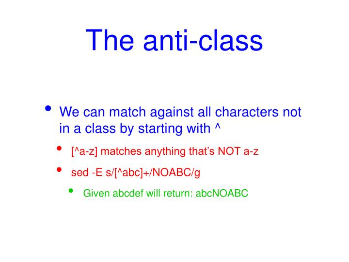 The anti-class