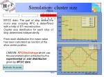 simulation cluster size