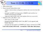 tests 11 22 06 23 30 06