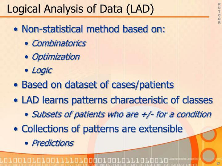 Logical Analysis of Data (LAD)