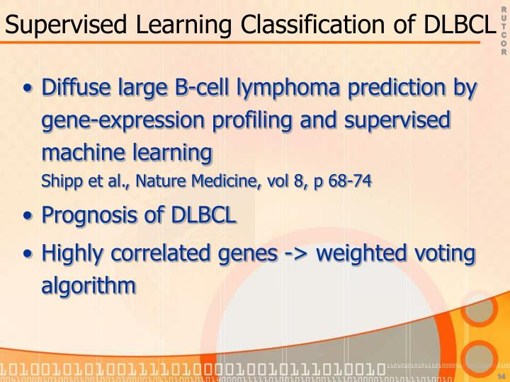Supervised Learning Classification of DLBCL