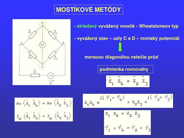 MOSTÍKOVÉ METÓDY