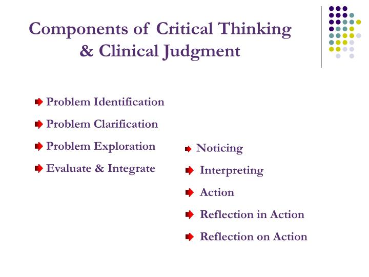 Components of Critical Thinking & Clinical Judgment